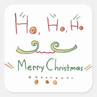 HO HO HO Merry Christmas Sticker