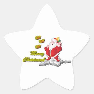 Ho! Ho! Ho! Merry Christmas Star Stickers