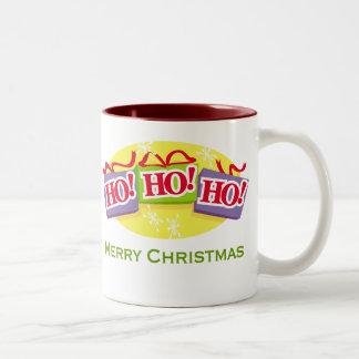 Ho Ho Ho Merry Christmas Two-Tone Coffee Mug