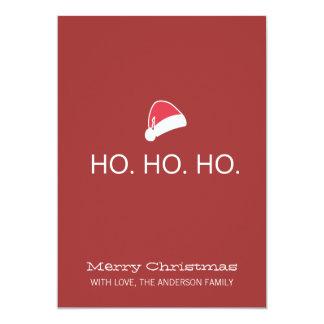 HO HO HO Modern Christmas Photo Flat Cards