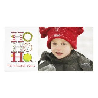 HO HO HO navidad del día de fiesta que saluda Tarjeta Fotográfica Personalizada
