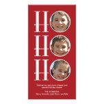 Ho Ho Ho - navidad/tarjeta de la foto del día de f Tarjetas Fotográficas