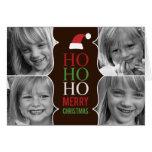 HO HO HO navidad/tarjeta de la foto del día de fie