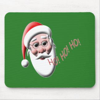 ¡Ho! ¡Ho! ¡Ho! Navidad verde Mousepad de Papá Noel