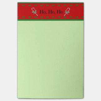 Ho, Ho, Ho notas del navidad Post-it® Nota