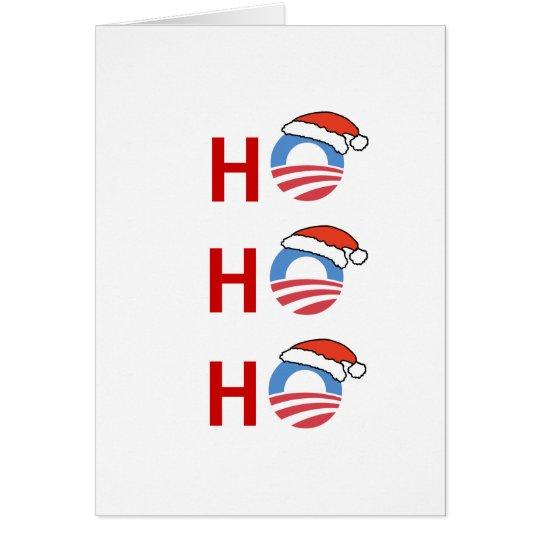 Ho Ho Ho Obama Card