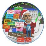 Ho Ho Ho Obama Plato De Cena