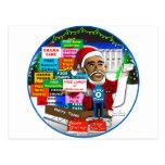 Ho Ho Ho Obama Post Card