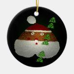 Ho-Ho-Ho Double-Sided Ceramic Round Christmas Ornament