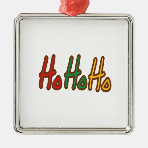 Ho Ho Ho ornamento del navidad Adorno Navideño Cuadrado De Metal