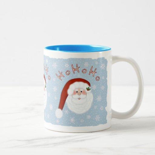 Ho Ho Ho Papá Noel dos entonó la taza de café