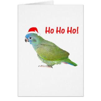 Ho Ho Ho parrot Card