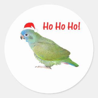 Ho Ho Ho (parrot) Classic Round Sticker