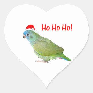 Ho Ho Ho (parrot) Heart Sticker