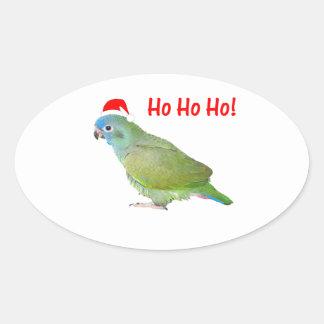Ho Ho Ho (parrot) Oval Sticker