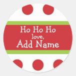 Ho Ho Ho pegatina personalizado del navidad