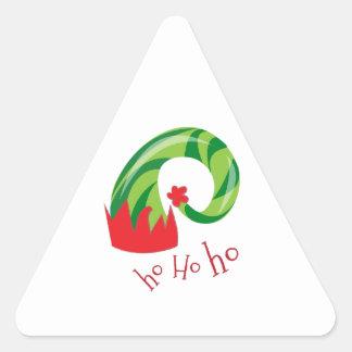Ho Ho Ho Pegatina Triangular
