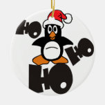 Ho Ho Ho PENGUIN Christmas Tree Ornament