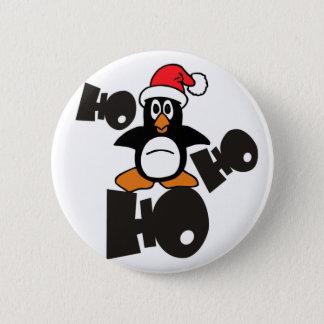 Ho Ho Ho - Penguin - merry christmas Button