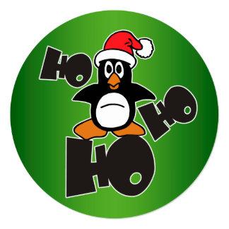 Ho Ho Ho - Penguin - merry christmas + your backgr Card