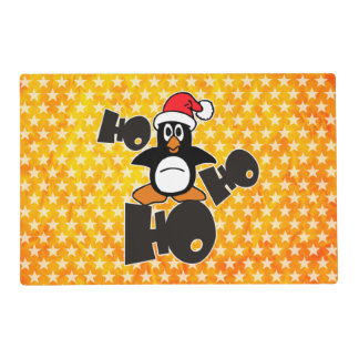 Ho Ho Ho - Penguin - merry christmas + your backgr Placemat