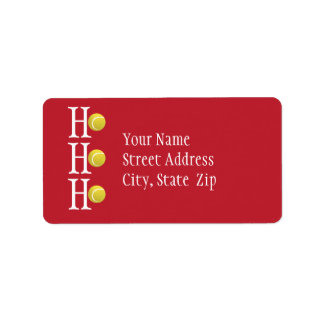 HO-HO-HO - personalized address label