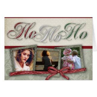 HO HO HO Photo Christmas Card
