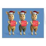 Ho Ho Ho Piglets Greeting Card