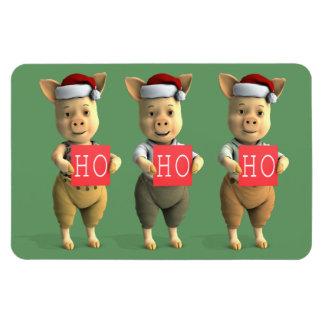 Ho Ho Ho Piglets Magnet