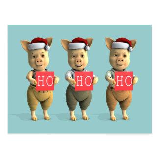 Ho Ho Ho Piglets Post Cards