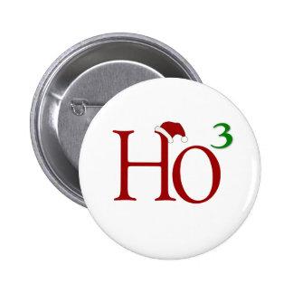 Ho Ho Ho Pin Redondo De 2 Pulgadas