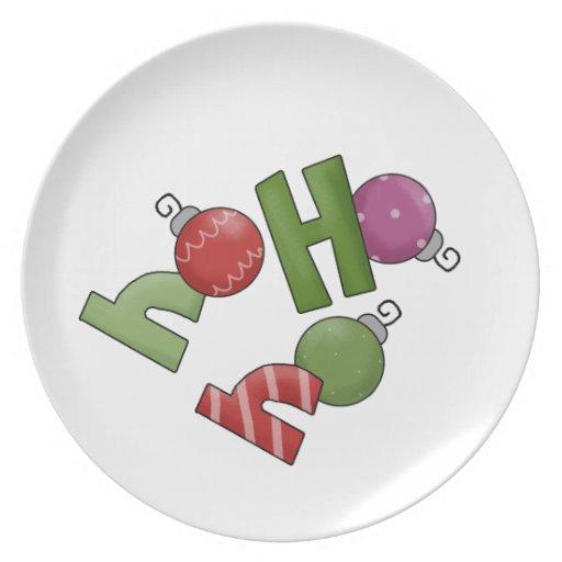 ¡Ho, ho, ho placas del navidad! Platos Para Fiestas