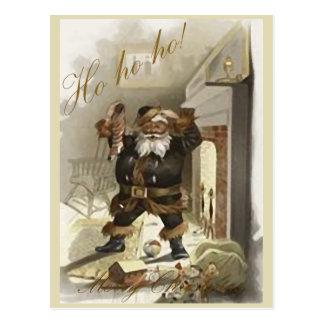 Ho ho ho postal tradicional del navidad de Santa