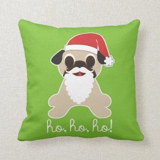 Ho, ho, ho! Pug Santa Claus Christmas Pillow