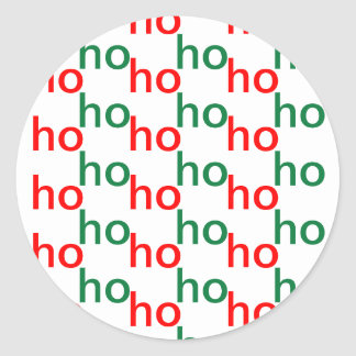 Ho-ho-ho Red-and-Green Stickers