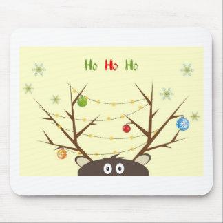 Ho Ho Ho Reindeer Mouse Pad