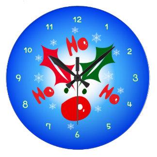 HO HO HO Reindeer wall clock