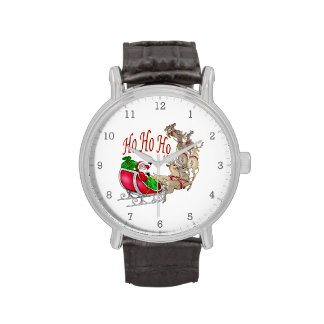 Ho Ho Ho reno de Santa Reloj