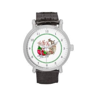 Ho Ho Ho reno de Santa Relojes De Pulsera