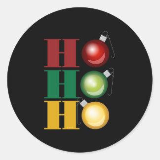 Ho Ho Ho Round Sticker