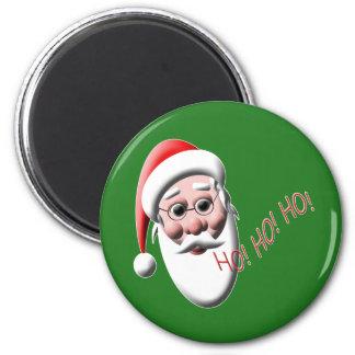 Ho!Ho!Ho! Santa 2 Inch Round Magnet