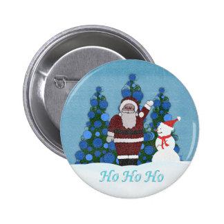 Ho ho ho Santa Button
