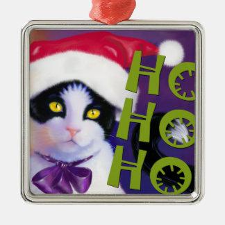 Ho Ho Ho Santa Cat sq.Ornament
