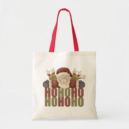 Ho Ho Ho Santa Christmas Gift Tote Bags