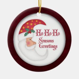 ho ho ho santa christmas ornament
