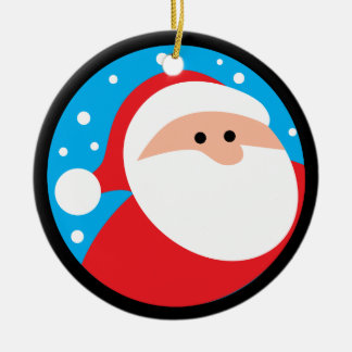 Ho Ho Ho! Santa Claus Ceramic Ornament
