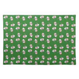 Ho!Ho!Ho! Santa Claus Green Christmas Placemat