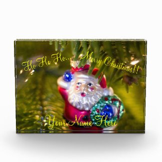 Ho Ho Ho Santa Claus Ornament Acrylic Award