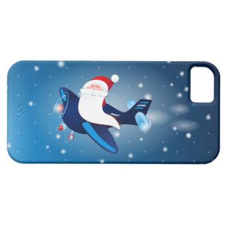 ¡Ho ho ho! Santa en el aeroplano, caso iPhone5 Funda Para iPhone SE/5/5s