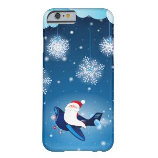 ¡Ho ho ho! Santa en el aeroplano, caso iPhone6 Funda De iPhone 6 Barely There